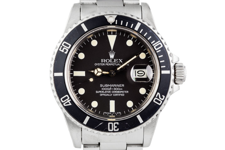 1982 Rolex Submariner 16800 Matte dial with Box and Papers. photo