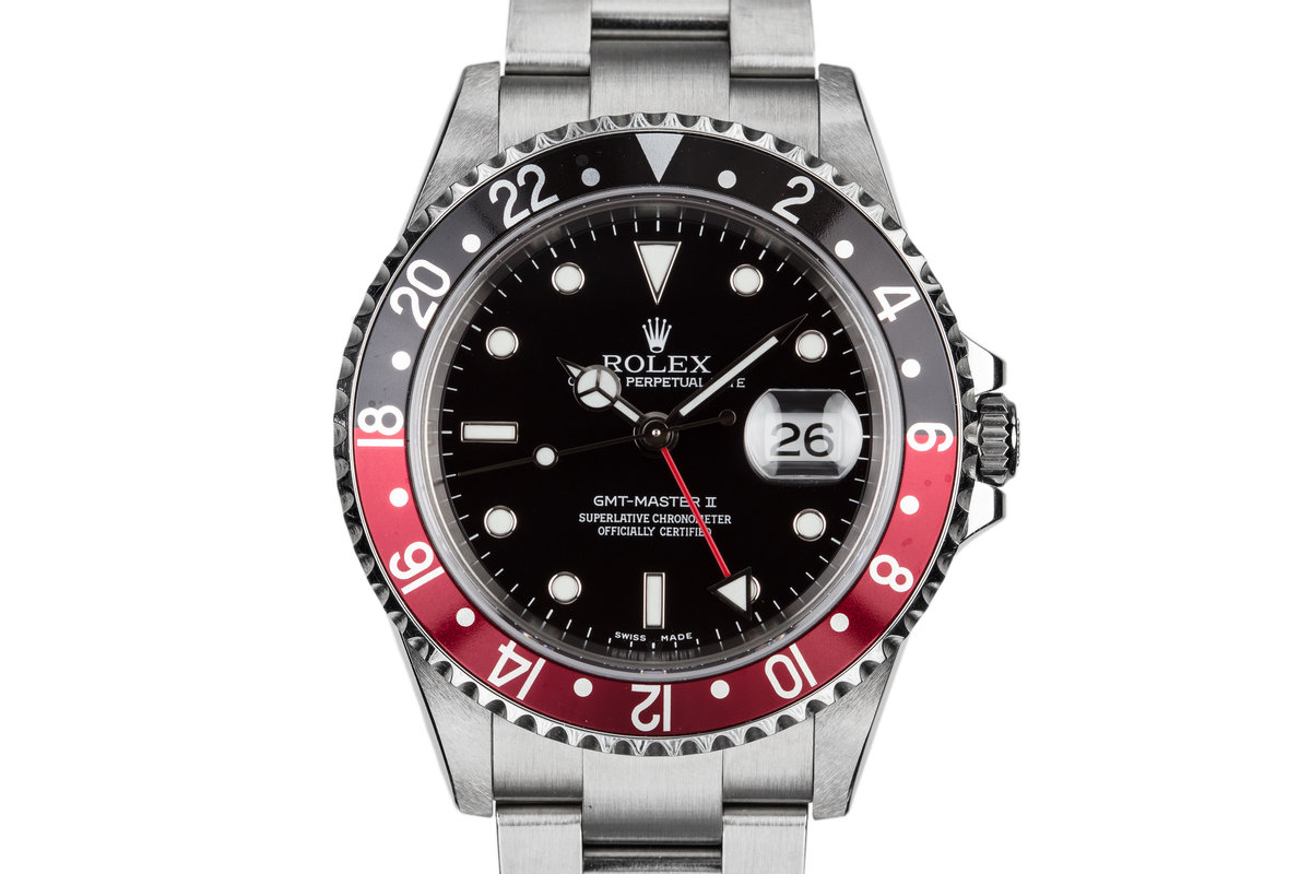 """2005 Rolex GMT-Master II 16710 """"Coke"""" with Box and Papers photo, #0"""