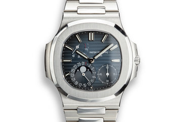 2014 Patek Philippe Nautilus 5712/1A Blue Dial with Box and Papers photo