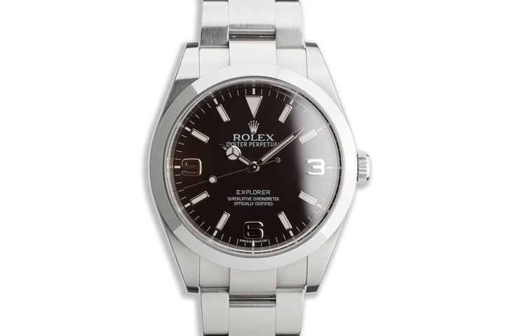 2014 Rolex Explorer 214270 39mm Mark I Dial with Box and Card photo