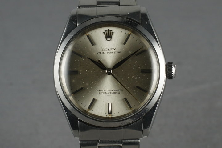 1963 Rolex Oyster Perpetual 1002 with Silver Underline dial photo
