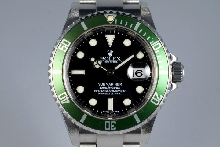 2007 Rolex Green Submariner 16610V photo