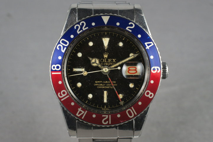 1958 Rolex GMT 6542 Glossy Gilt Chapter Ring with Service Papers photo