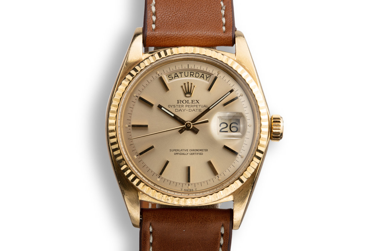 1972 Rolex 18K YG Day-Date 1803 Champagne Dial photo, #0
