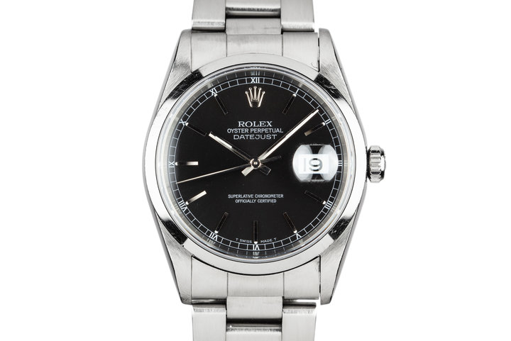 1997 Rolex DateJust 16200 Black Dial with Box and Papers photo