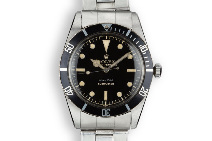 1958 Rolex Submariner 5508 Glossy Chapter Ring Gilt Dial photo