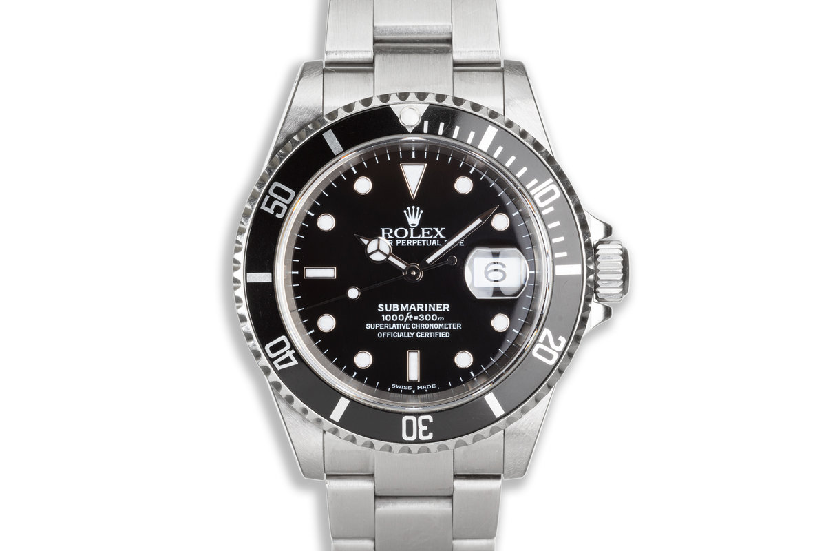 2000 Unpolished Rolex Submariner 16610 with Box & Papers photo, #0