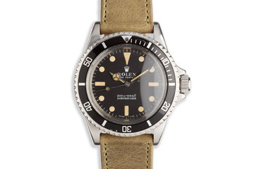 1968 Vintage Rolex Submariner 5513 Meters First Dial photo