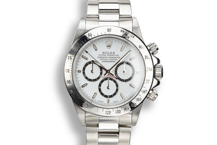 1991 Rolex Zenith Daytona 16520 White Dial with Inverted 6 Dial photo