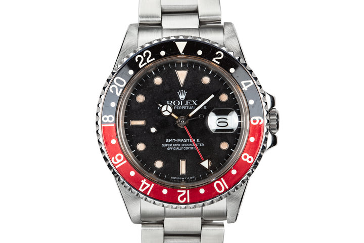 "1988 Rolex GMT-Master II 16760 ""Fat Lady"" with ""Black Granite"" Dial photo"