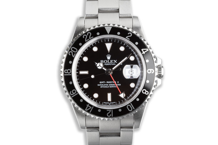 """2006 Rolex 16710 GMT Master II """"Error Dial"""" with Box and Papers photo"""