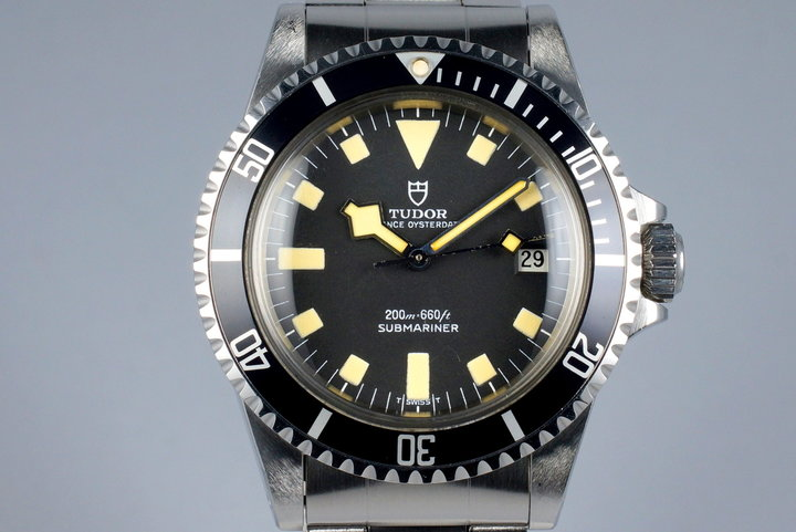 1979 Tudor Black Submariner 94110 Snowflake photo