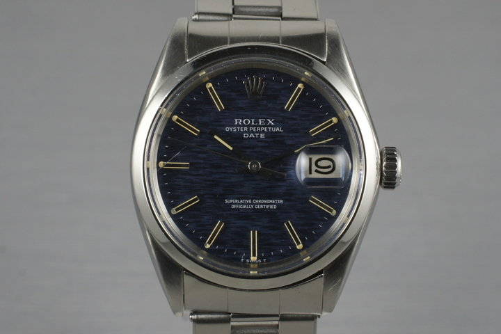 1970 Rolex Date 1500 with Blue Dial photo