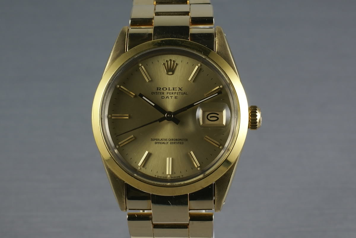 Rolex Gold Capped Date 15505 photo, #0