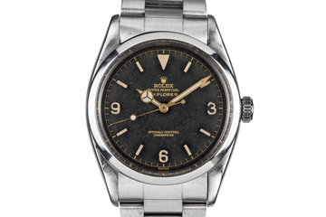 1957 Rolex Explorer I 6610 SWISS Only Gilt Dial with Service Papers photo