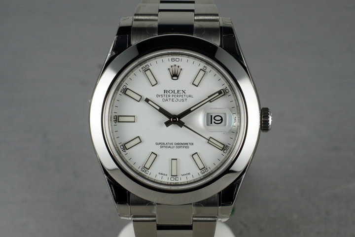 2013 Rolex DateJust With Box & Papers 116300 Mint photo