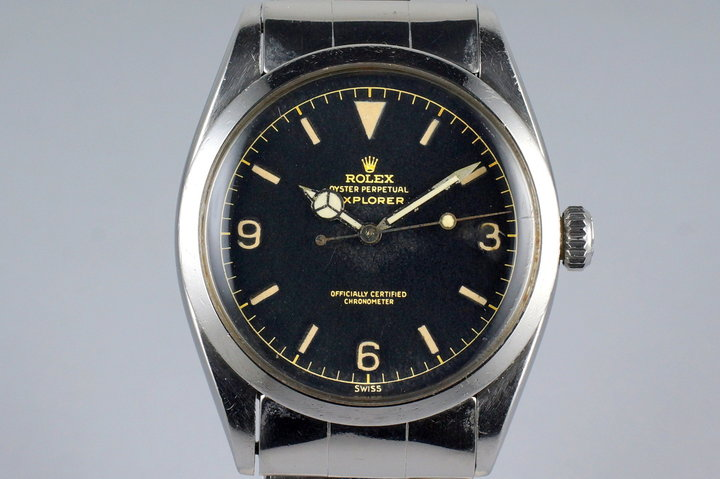 1958 Rolex Explorer 1 6610 Gilt Chapter Ring Dial with Original Owner Info photo