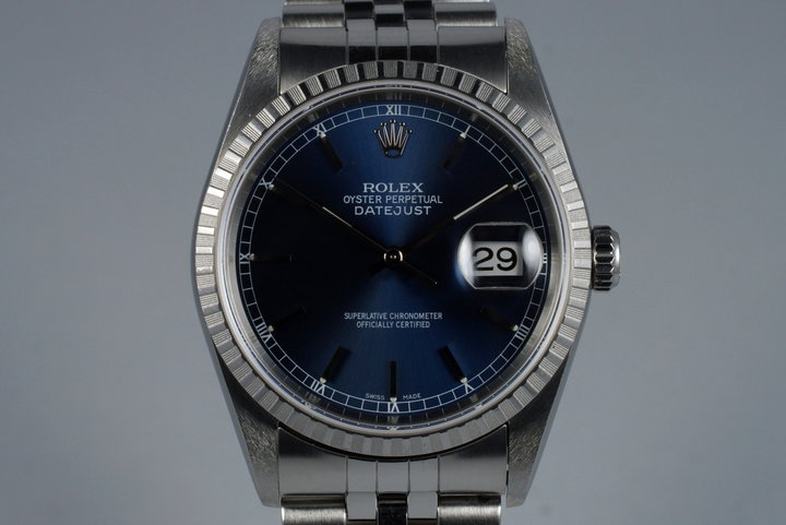 2003 Rolex DateJust 16220 Blue Dial photo