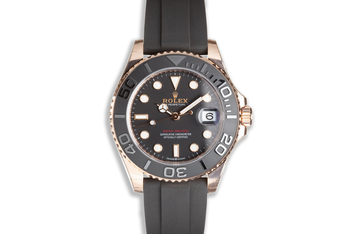 2021 Rolex Yacht Master 37mm Everose 268655 with Oysterflex Strap Box & Card photo, #0