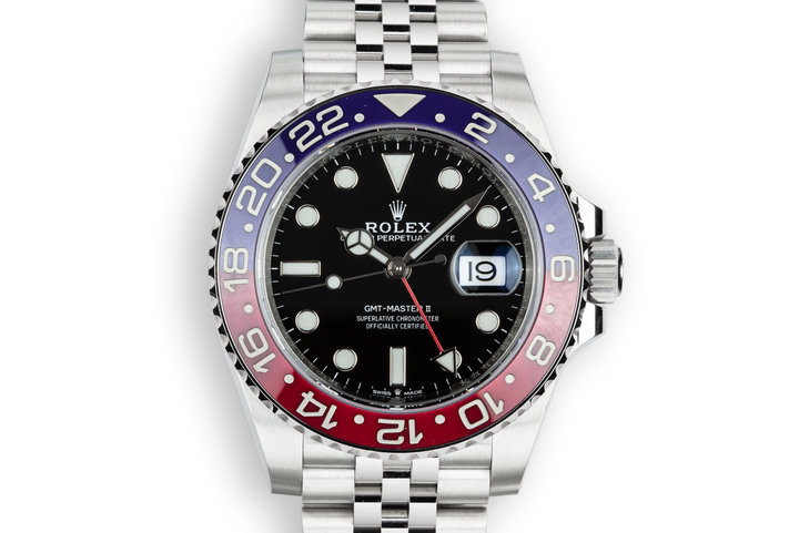 2018 Rolex Ceramic GMT-Master II 126710BLRO with Box and Papers photo