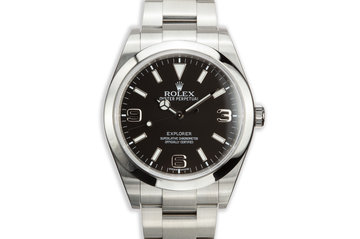 2011 Rolex 39mm Explorer 214270 with Box and Papers photo