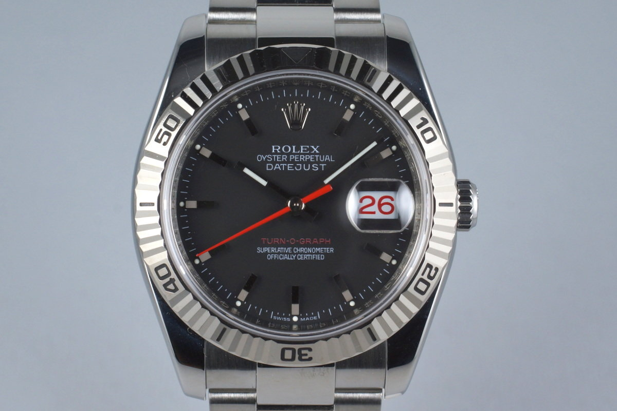 2003 Rolex DateJust Turnograph 116264 with Box and Papers photo, #0