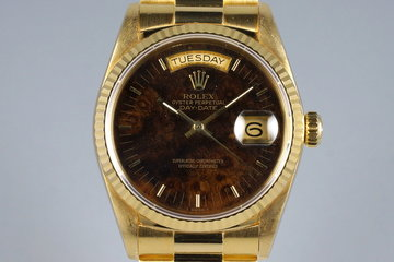 1988 YG Day-Date 18038 Burled Wood Dial photo