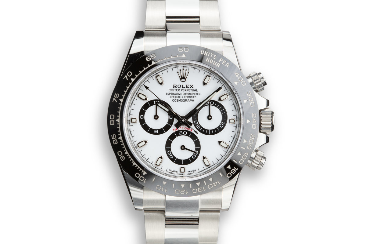 2019 Rolex Daytona 116500LN White Dial with Box and Papers photo, #0
