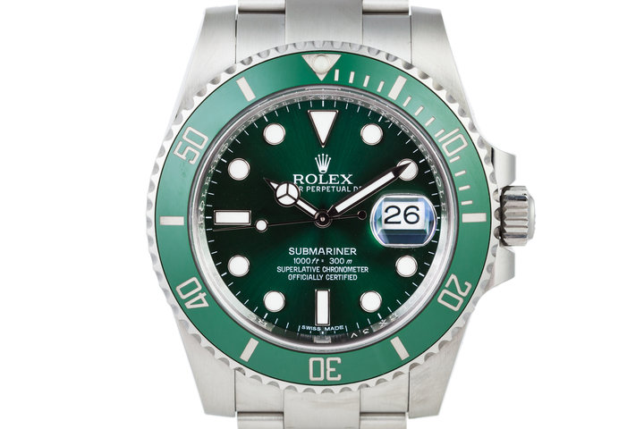 2016 Rolex Green Submariner 116610LV with Box and Papers photo