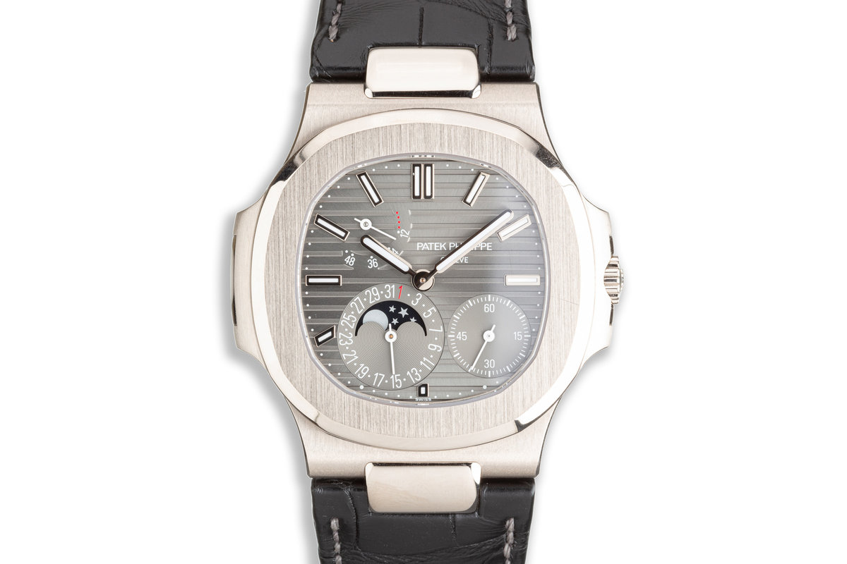 2019 Patek Philippe 18k Nautilus 5712G-001 Grey Dial with Box &  Papers photo, #0