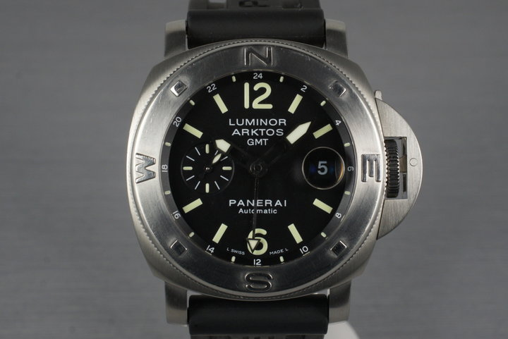 2005 Panerai PAM 186 Arktos GMT with Box and Papers photo