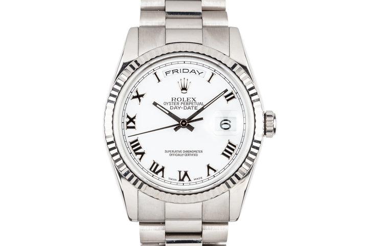 2000 Rolex 18K White Gold DateJust 118239 Roman Numeral Dial photo