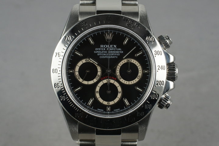 2000 Rolex SS Zenith Daytona Ref: 16520 Black Dial with Box and Papers photo