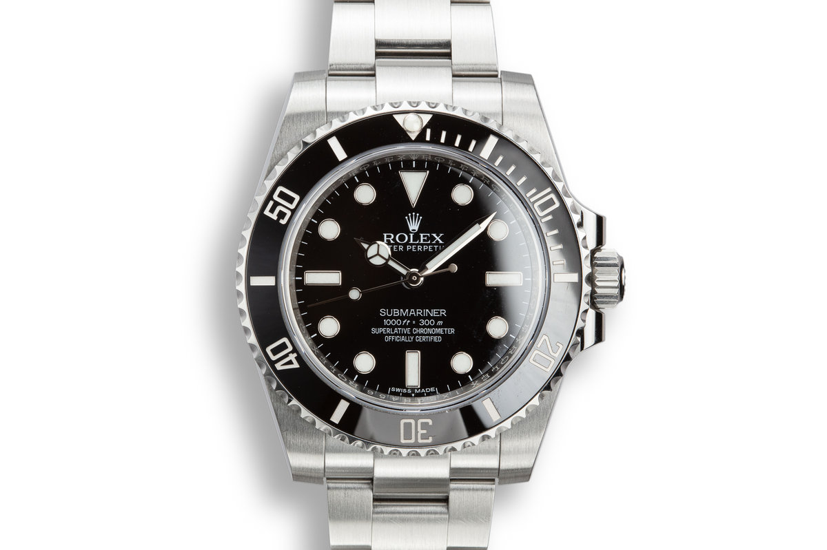 2017 Rolex Submariner 114060 with Box and Papers photo, #0