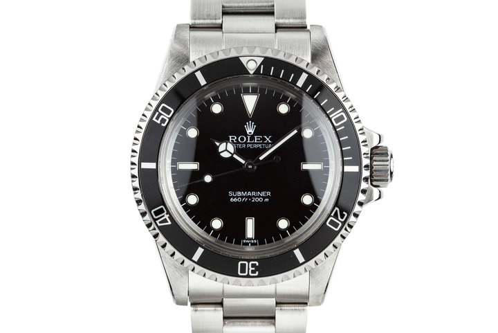 "1988 Rolex Submariner 5513 with ""SWISS"" Only Service Dial with Box and Service Papers photo"