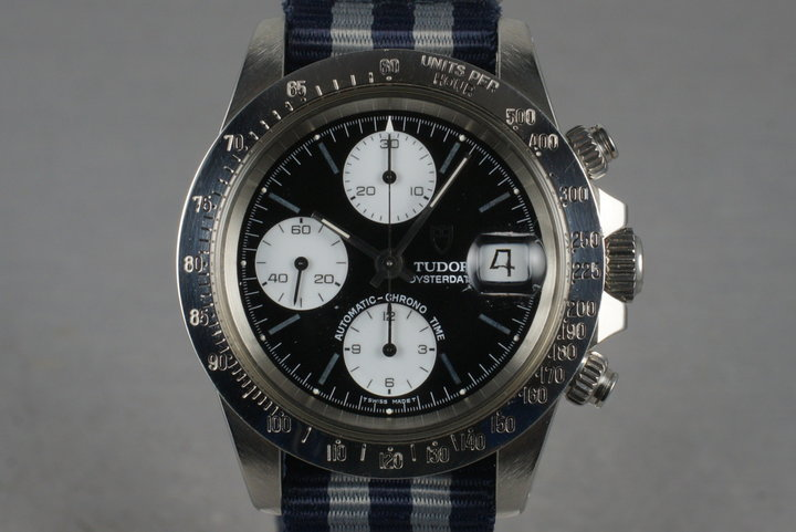 360136d88 1993 Tudor Chronograph Big Block 79180 with Black Dial photo