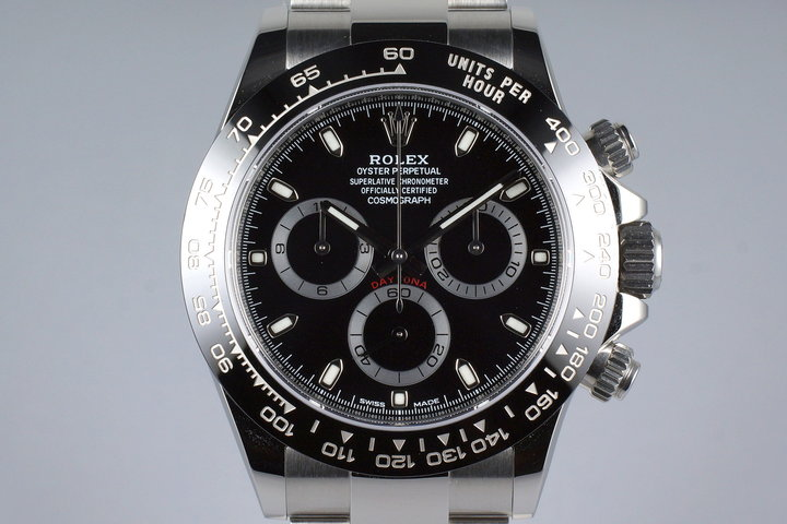 2016 Rolex Ceramic Daytona 116500LN Black Dial with Box and Papers photo