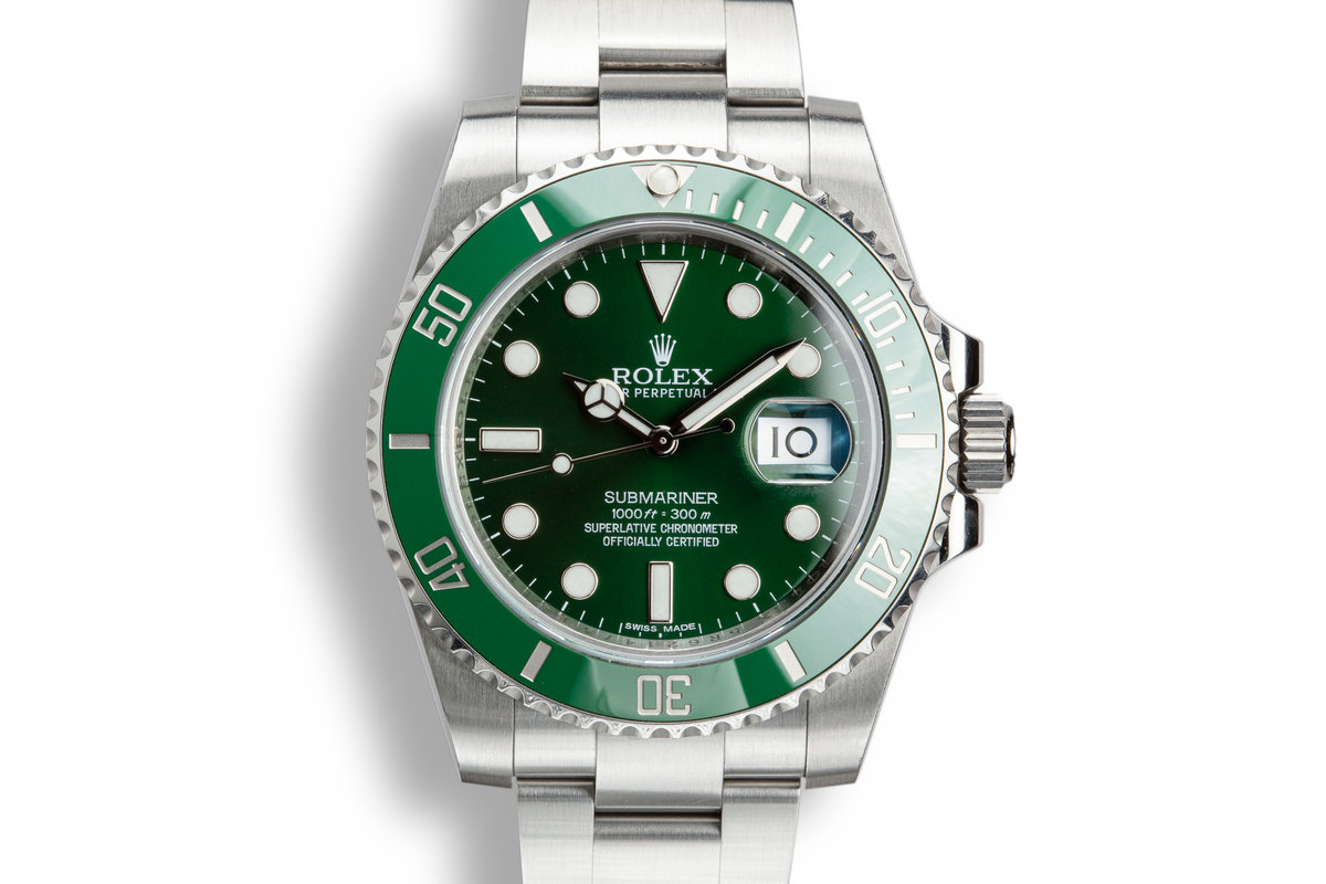 "2014 Rolex Green Submariner116610LV ""Hulk"" with Box and Papers photo, #0"