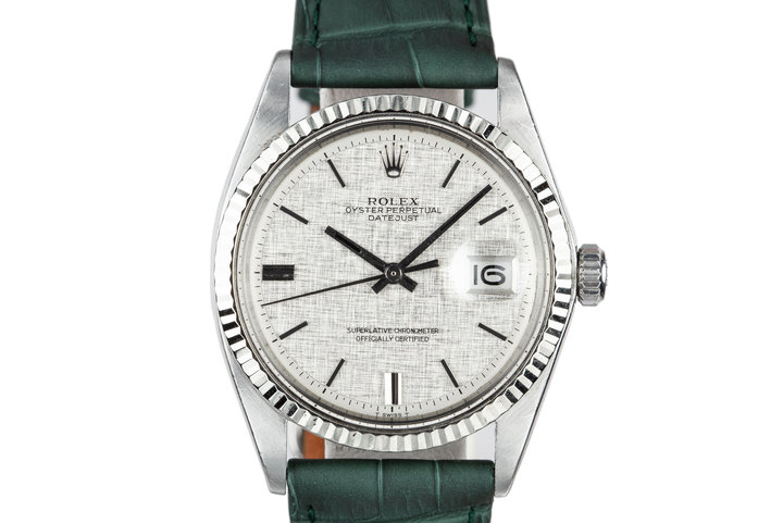 1971 Rolex DateJust 1601 with No Lume Linen Dial photo