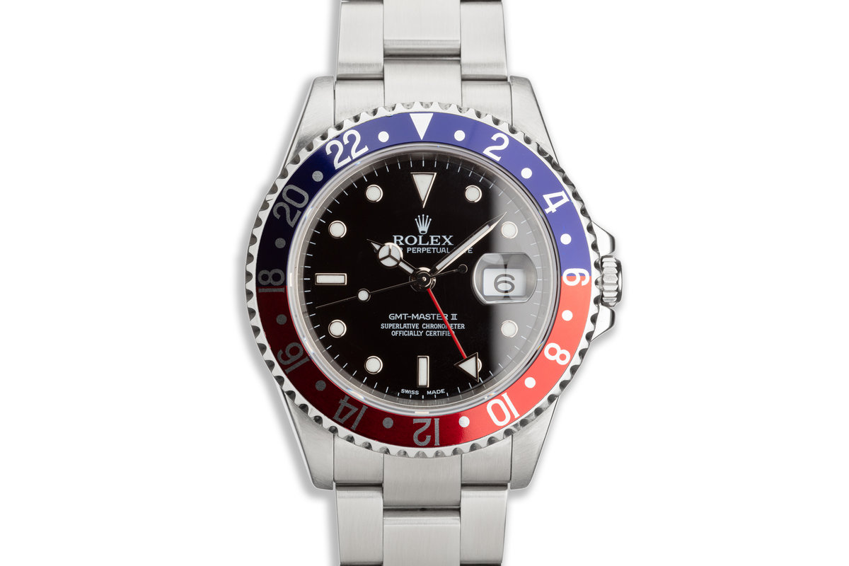 """2003 Rolex GMT-Master II 16710 """"Pepsi"""" with Box and Papers photo, #0"""