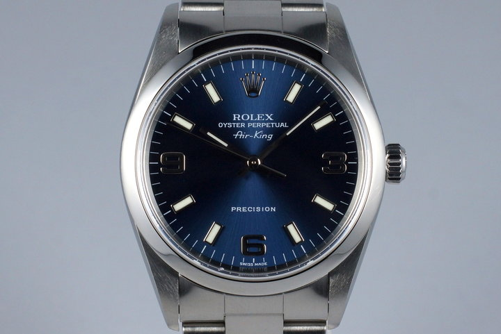 2001 Rolex Air-King 14000M Blue Dial photo