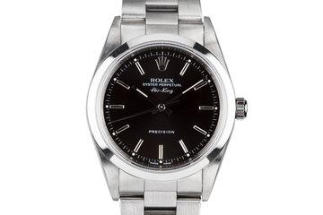 2000 Rolex Air-King 14000 Black Dial photo