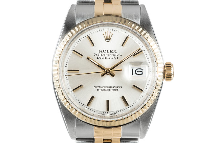 1967 Rolex Two Tone Date Just 1601 Silver Dial photo