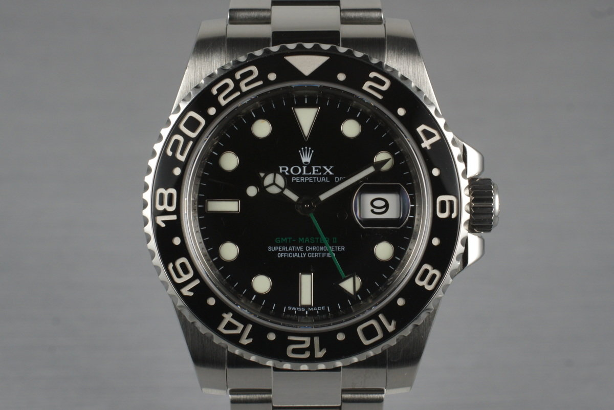 2007 Rolex GMT II 116710N with Box and Papers photo, #0