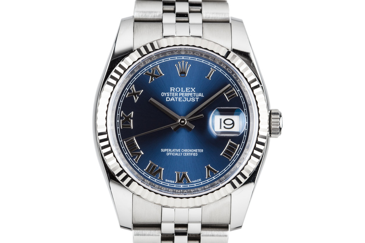 2017 Rolex DateJust 116234 Blue Dial with Box and Papers photo, #0