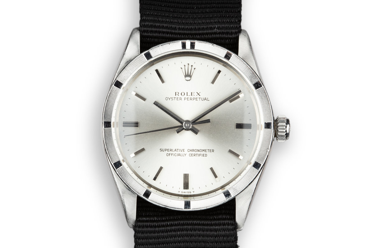 1967 Rolex Oyster Perpetual 1007 Silver Dial photo, #0