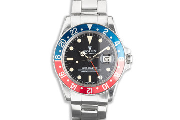 1970 Unpolished Rolex GMT-Master 1675 Mk II Dial photo