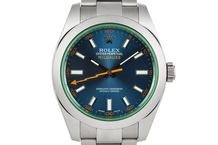 2014 Rolex Milgauss 116400GV with Box and Papers photo