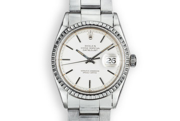 1970 Rolex DateJust 1603 with Matte Silver Dial photo