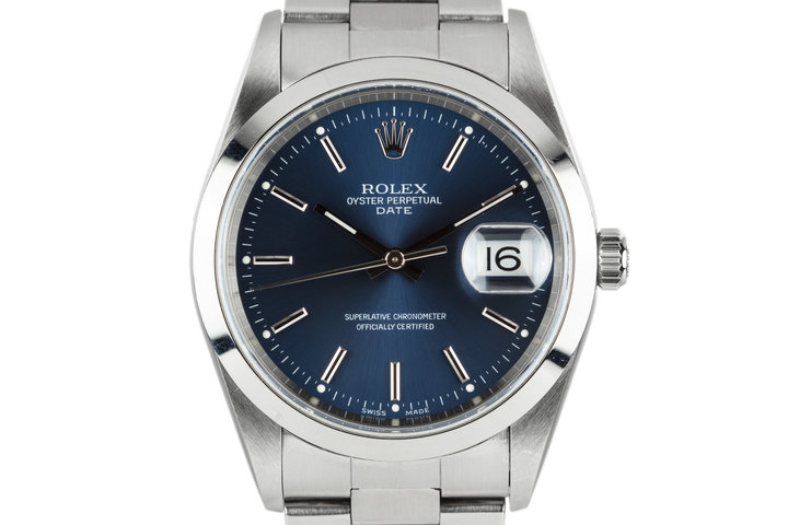 2000 Rolex Date 15200 with Blue Dial photo